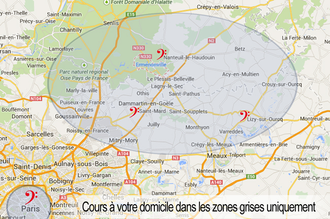 carte du champ d'action